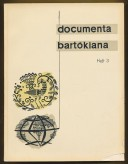 Documenta Bartókiana Heft 3