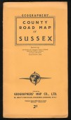 County Road Map of Sussex