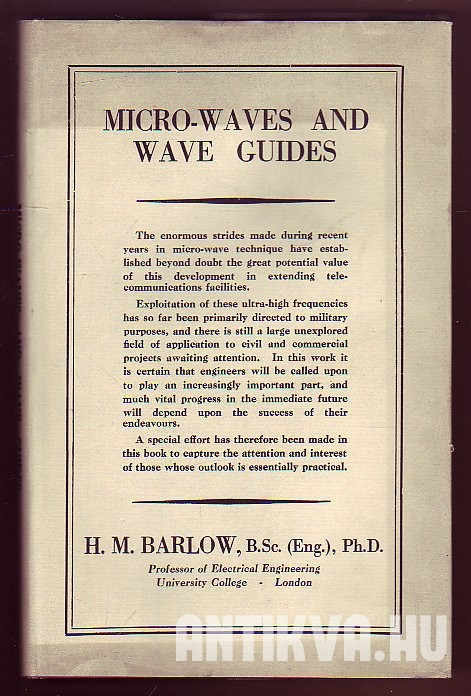 Micro-Waves and Wave Guides