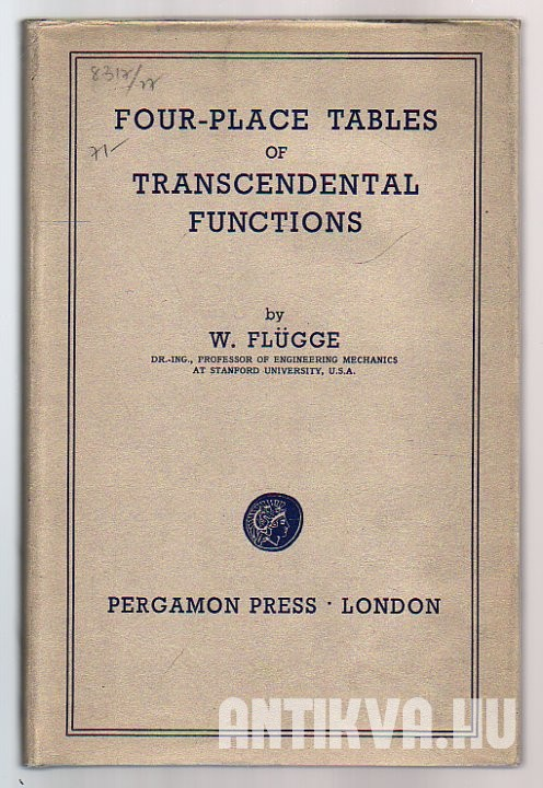 Four-Place Tables of Transcendental Functions