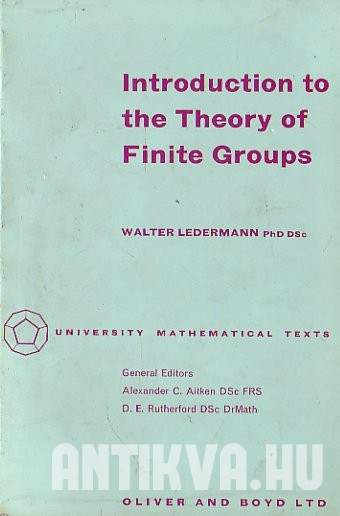 Introduction to the Theory of Finite Groups