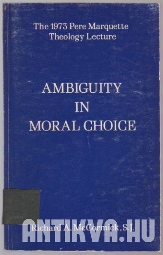 Ambiguity in Moral Choice