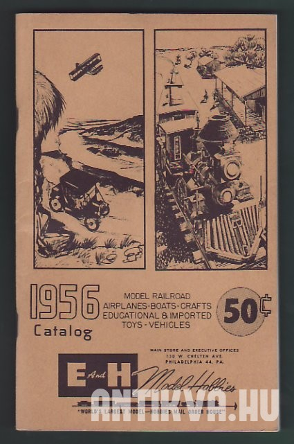 Model Railroad Airplanes-Boats-Crafts Educational & Imported Toys - Vehicles 1956. Catalog