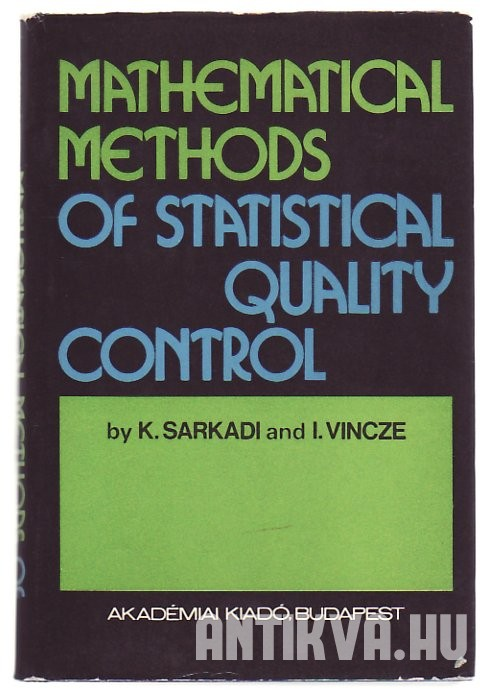 Mathematical Methods of Statistical Quality Control