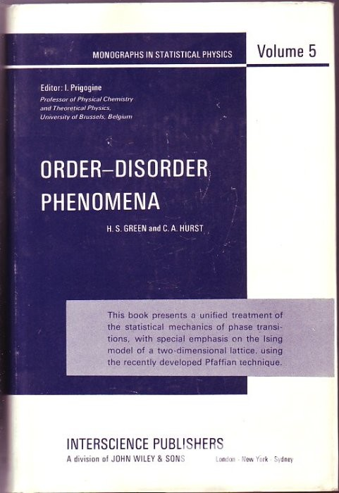 Order-Disorder Phenomena