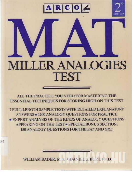 MAT - Miller Analogies Test