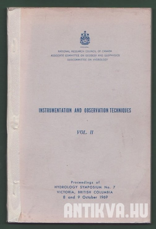 Instrumentation and Observation Techniques Vol. II.