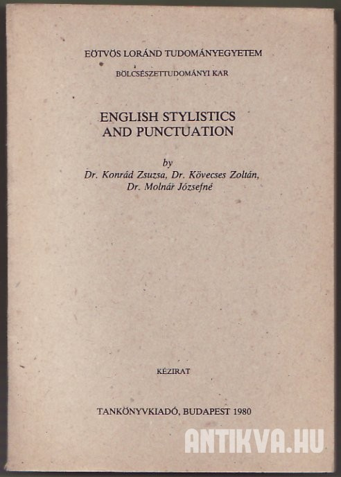 English Stylistics and Punctuation