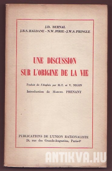 Une Discussion Sur L'origine De La Vie