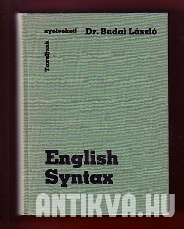 English Syntax. Theory and Practice