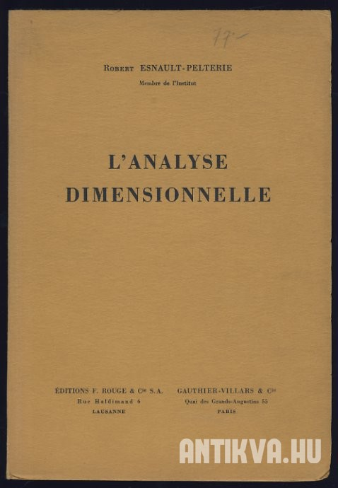 L'Analyse Dimensionnelle