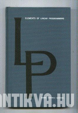 Elements of Linear Programming