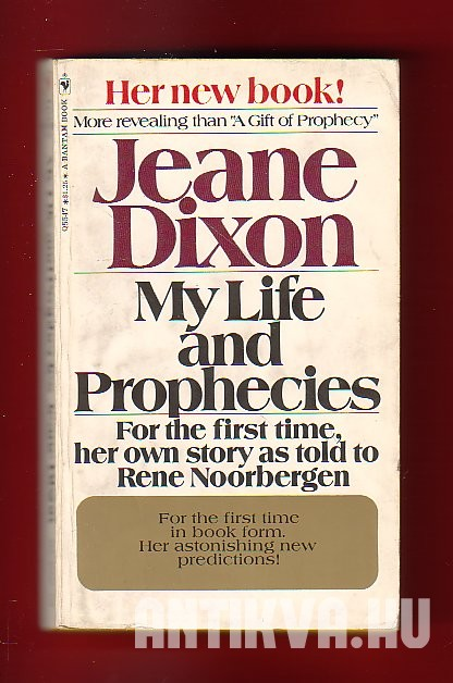 My Life And Prophecies Jeane Dixon