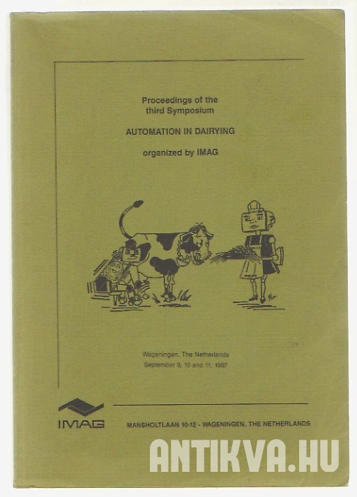Proceedings of the third Symposium. Automation in Dairying