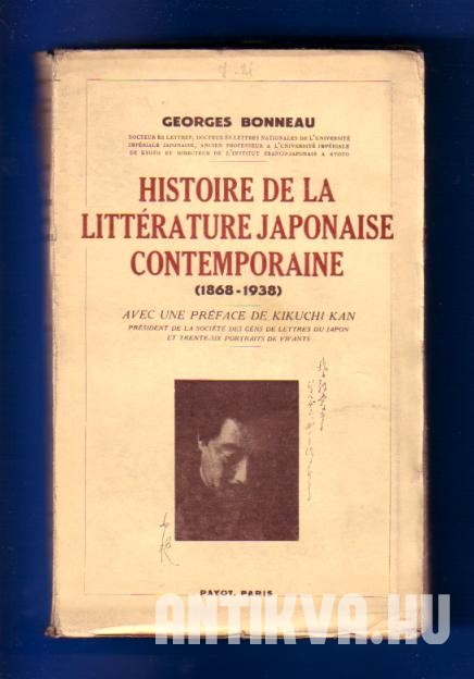 Historie de la Littérature Japonaise Contemporaine (1868-1938)