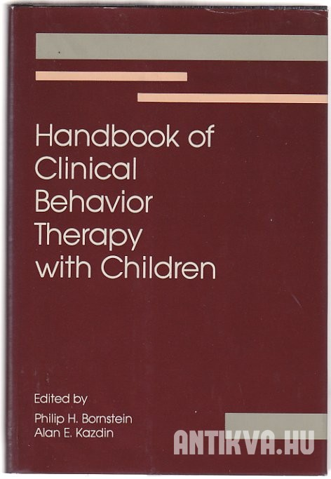 Handbook of Clinical Behavior Therapy with Children
