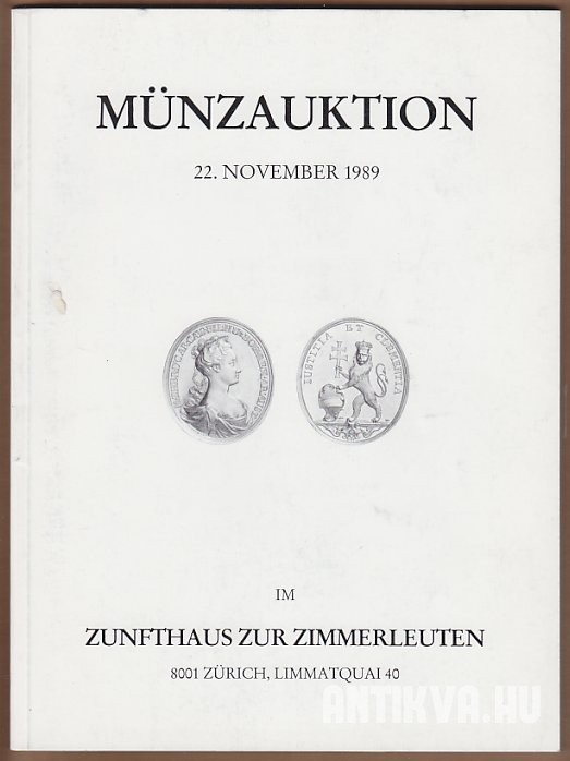 Münzauktion. 22. November 1989.