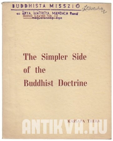 The Simpler Side of the Buddhist Doctrine
