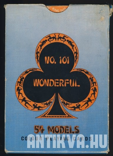 No. 101 Wonderful. 54 Models Colour Playing Cards