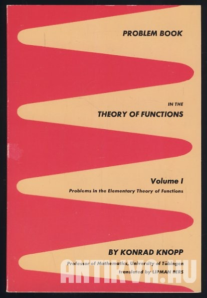 Problem Book in the Theory of Functions. Volume I. Problems in the Elementary Theory of Functions