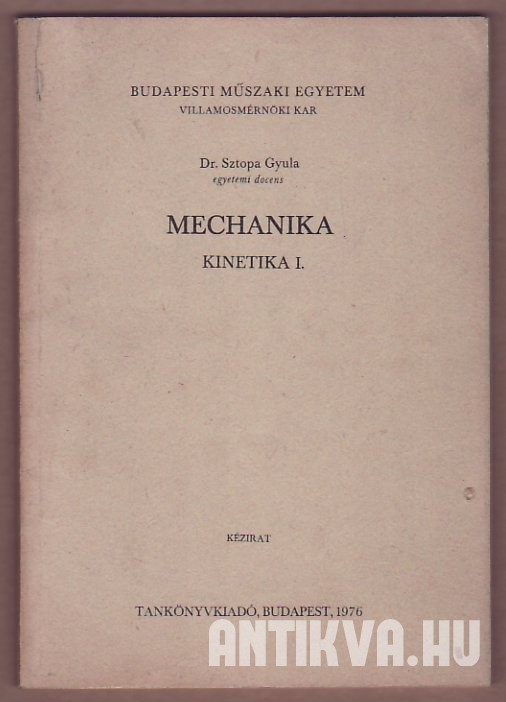 Mechanika. Kinetika I.