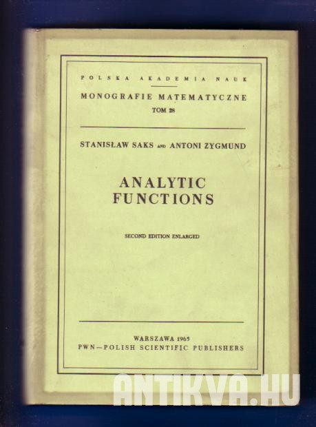 Analytic Functions