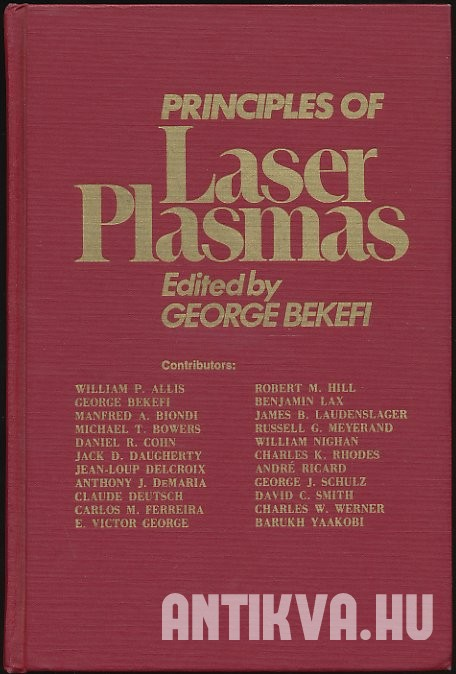 Principles of Laser Plasmas