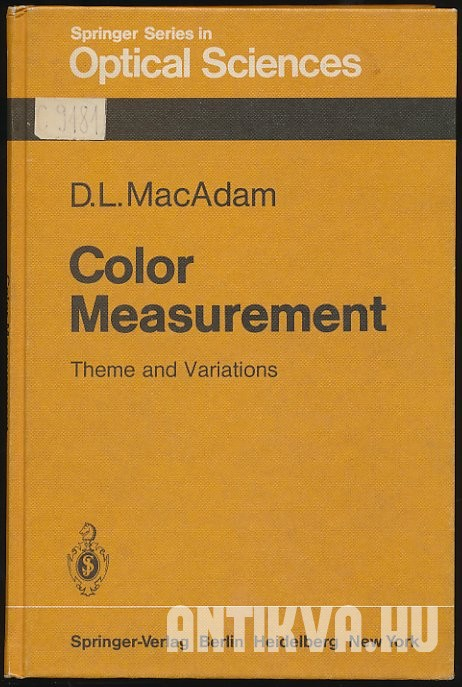 Color Measurement. Theme and Variations