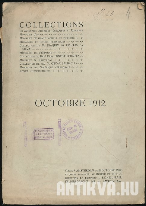 Collections. Octobre 1912