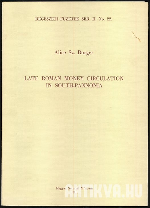 Late Roman Money Circulation in South-Pannonia