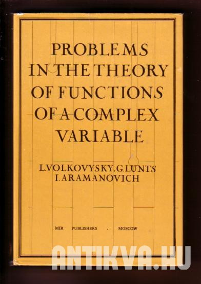 Problems in the theory of functions of a complex variable