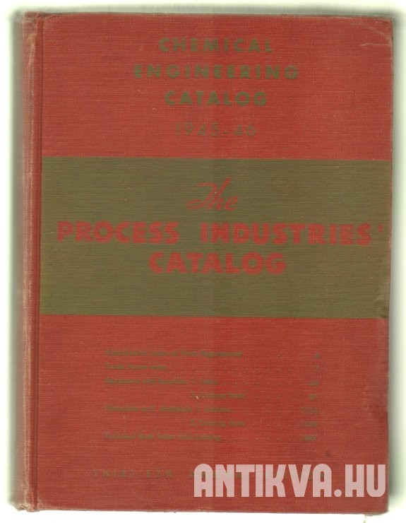 Chemical Engineering Catalog 1945-46