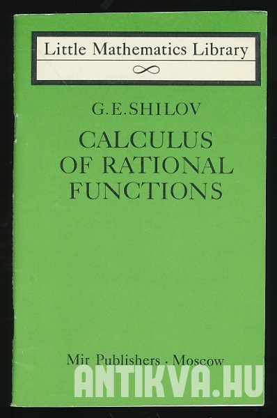 Calculus of Rational Functions