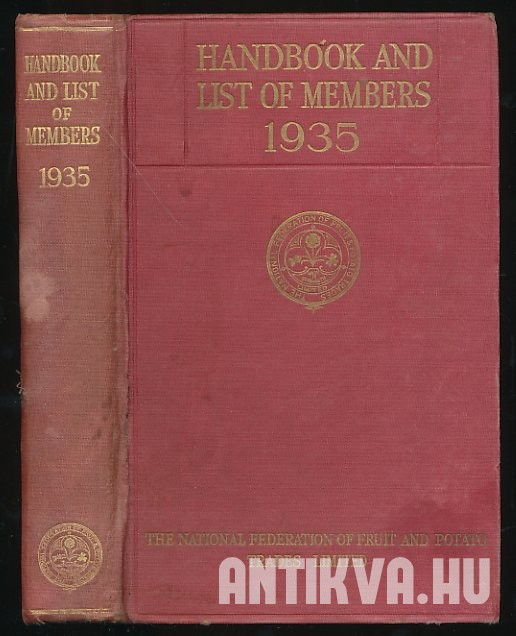 Handbook 1935. Containing List of Members, Annual Report and Accounts, Articles of Association ...