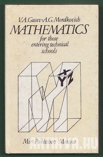 Mathematics for Those Entering Technical Schools
