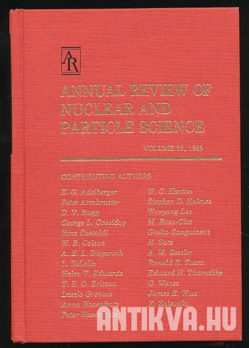 Annual Review of Nuclear and Particle Science
