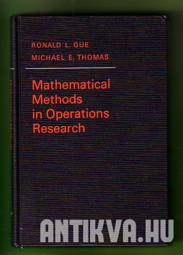 Mathematical Methods in Operations Research