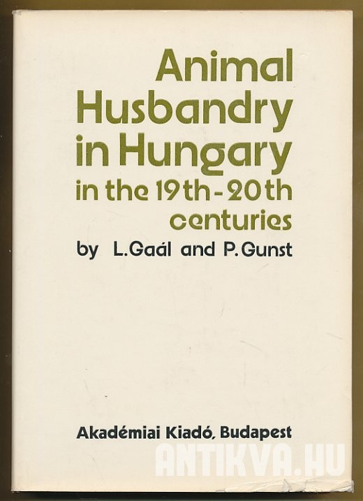 Animal Husbandry in Hungary in the 19th-20th Centuries