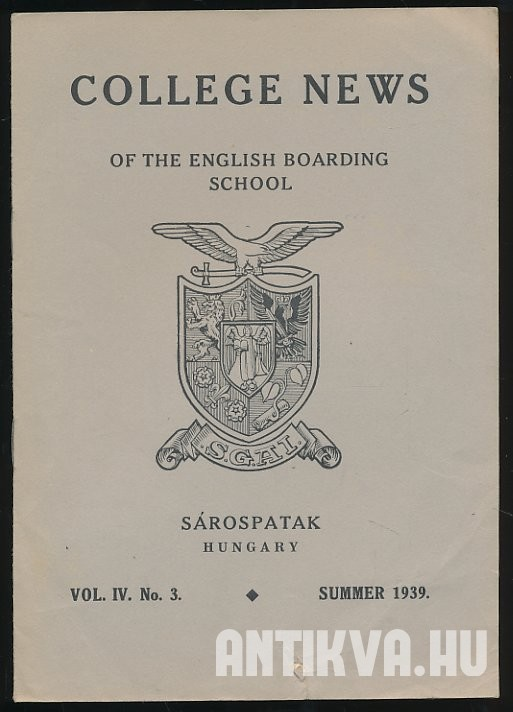 College News of English Boarding School. Vol. IV. No. 3. Summer 1939