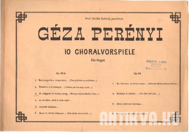 10 choralvorspiele für Orgel