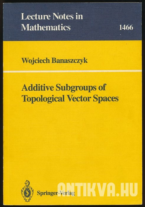 Additive Subgroups of Topological Vector Spaces