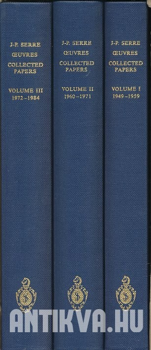 Oeuvres. Collected Papers. Vol. I-III.: 1949- 1984.