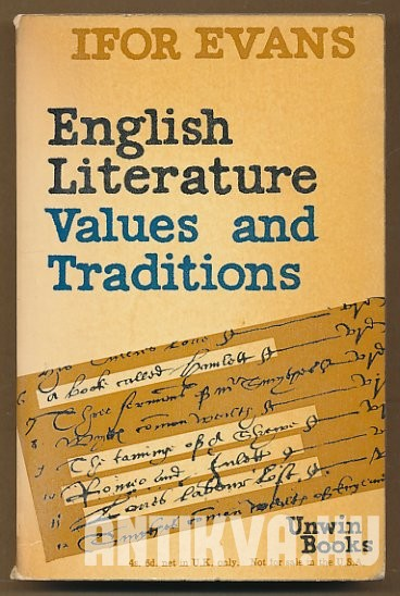 English Lilterature. Values and Tradition