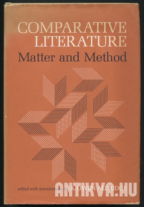 Comparative Literature: Matter and Method