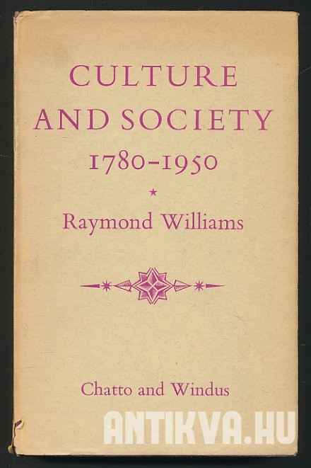 Culture and Society. 1780-1950