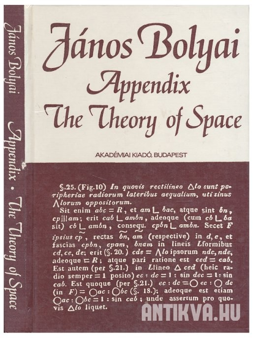 Appendix, the Theory of Space