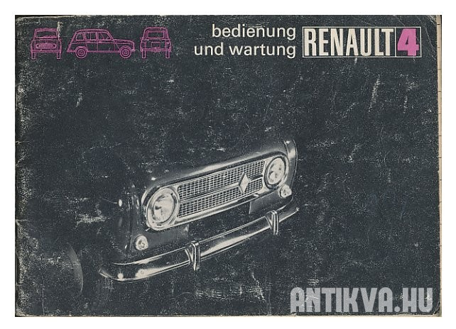 Renault 4. Wartungs-diagnose