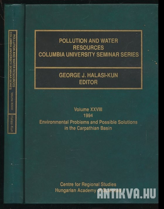 Pollution and Water Resources Columbia University Seminar Series. Volume XXVIII. 1994.