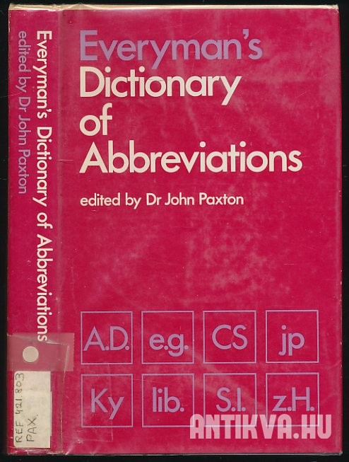 Everyman's Dictionary of Abbreviatiations