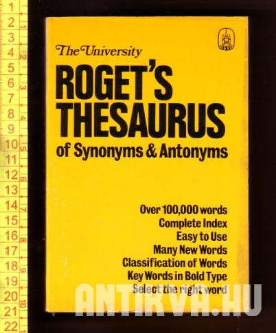 Roget's Thesaurus of Synonyms & Antonyms